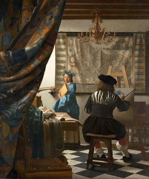 Johannes Vermeer.  De Schilderkunst van 1000 Schilderijen