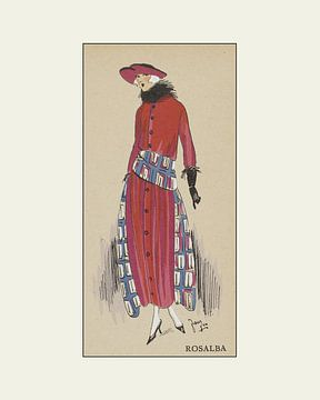 Rosalba - Historischer Modedruck Art Deco von NOONY