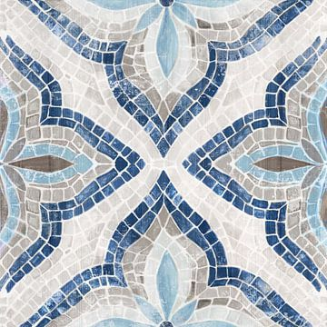 Blue Marokkaanse Tegel, Eva Watts  van PI Creative Art