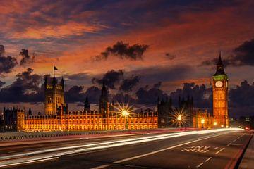 Nachtansicht aus London Westminster