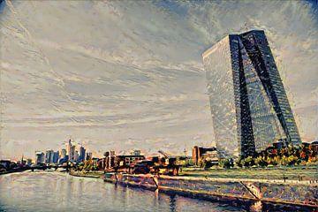 Klassiek kunstwerk ECB Frankfurt