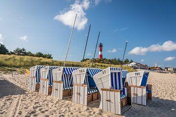 Strand en vuurtoren van Hörnum, Sylt van Christian Müringer