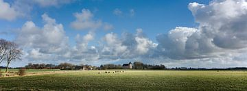 Wierdendorp Huizinge in Noord-Groningen van Bo Scheeringa Photography