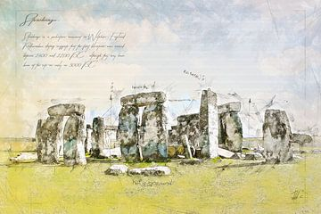 Stonehenge, Engeland van Theodor Decker