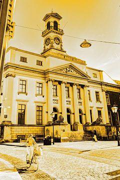 Stadhuis van Dordrecht Nederland Goud van Hendrik-Jan Kornelis