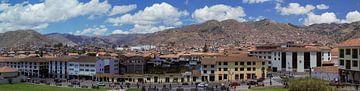 Panorama van  de stad Cuzco, Peru van