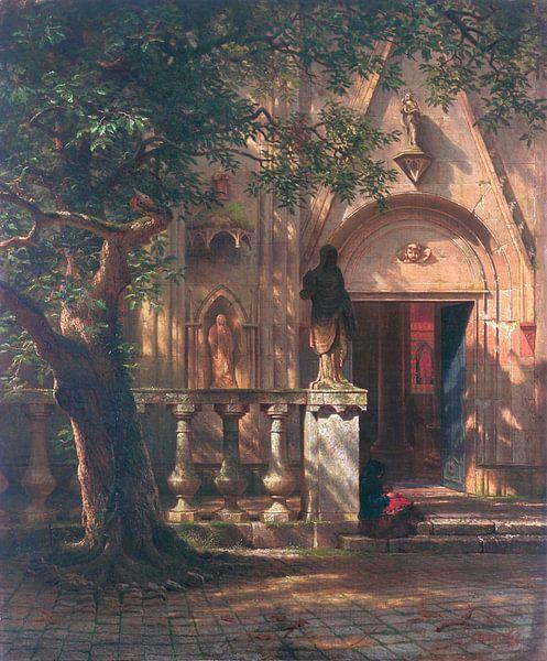 Sonne und Schatten, Albert Bierstadt von Meesterlijcke Meesters