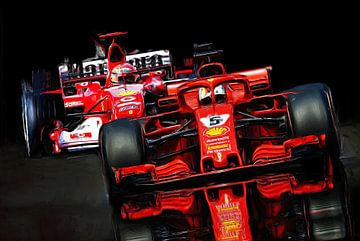 Vettel - Schumacher - Schumacher - Vettel van Jean-Louis Glineur alias DeVerviers