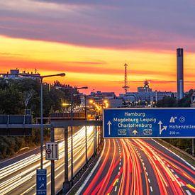 Berlin - Stadtautobahn und Funkturm von Frank Herrmann