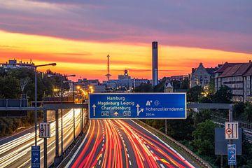 Berlin - Stadtautobahn und Funkturm