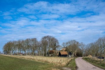 Landschap aan de rand van het Amstelmeer in Noord Holland von Harrie Muis