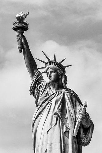 Detail van het vrijheidsbeeld in New York