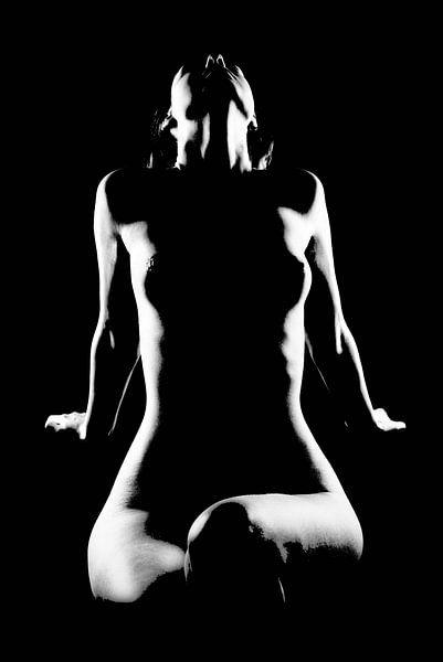 Naakte vrouw, low-key van Carl Remmers