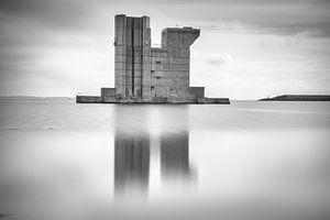 Pillar of the Dutch flood defense in Zeeland von
