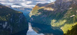 The view from Ørnesvingen, Geirangerfjord, Norway