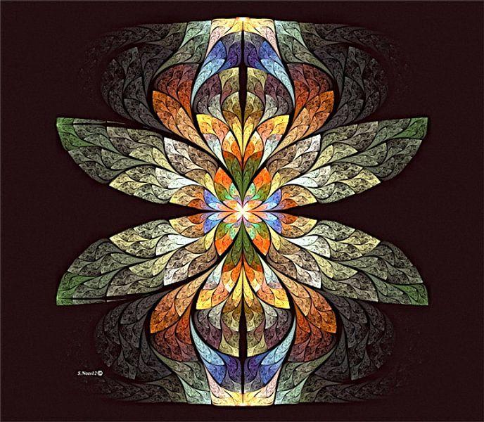fractal (Dragon Fly) van Frans Beer