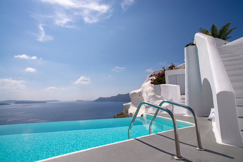 Katikies Hotel, Oia, Santorini, Greece van Robert van Hall