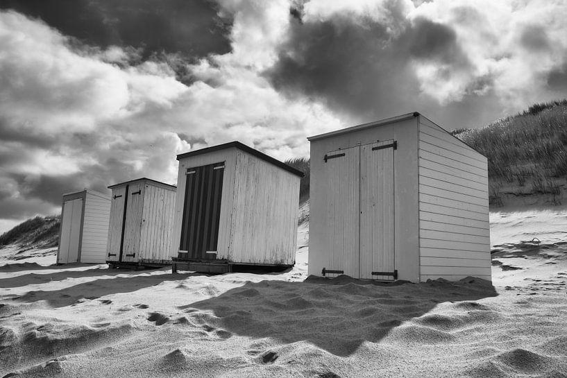 Maisons de plage sur Zeeland op Foto
