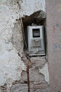 Meterkast, ingebouwd in muur