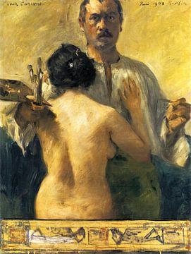 Lovis Corinth, Selbstbildnis mit Modell, 1903 von Atelier Liesjes