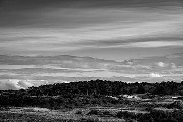 Dünenlandschaft Schwarz-Weiß-Fotografie von Linsey Aandewiel-Marijnen
