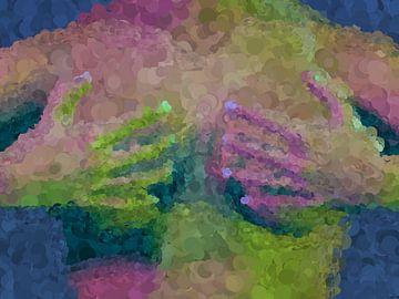Impressionistisch vrouw handen en borsten van Maurice Dawson