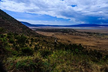 Ngorongoro krater in Tanzania van