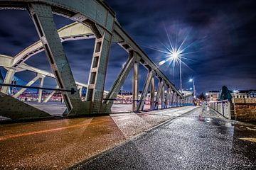 Bridges of Rotterdam by night van Kees Brunia