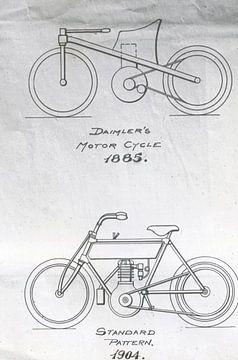 Patent DAIMLER' MOTOR CYCLE 1885 1904 van Jaap Ros