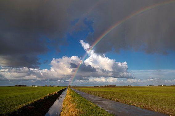 Regenboog-landschap