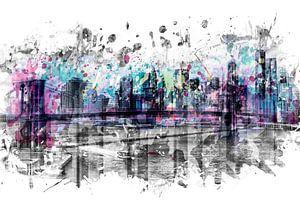 Modern Art NEW YORK CITY Skyline | Spatten
