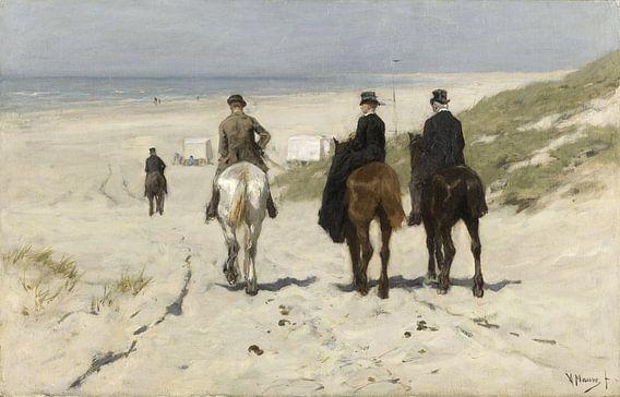 Morgenrit langs het strand, Anton Mauve van Rebel Ontwerp