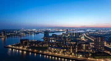 Panorama vanaf de Euromast in Rotterdam van