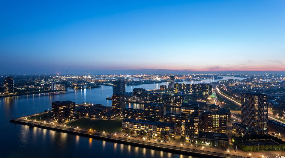 Panorama vanaf de Euromast in Rotterdam