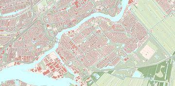 Kaart vanKrimpen aan den IJssel