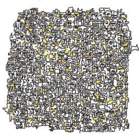 Vreemde kostgangers V2 in geel van Henk van Os