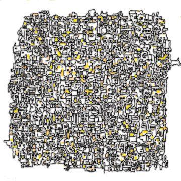 Vreemde kostgangers V2 in geel sur Henk van Os
