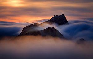 Storskiva sunset van Wojciech Kruczynski