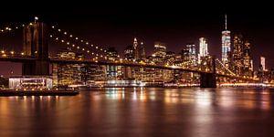 MANHATTAN & BROOKLYN sunset   panorama