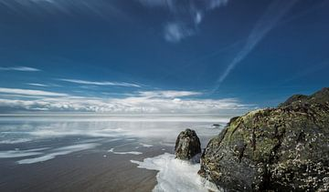 Rots aan de Noordzee kust van Texel von Martijn van Dellen