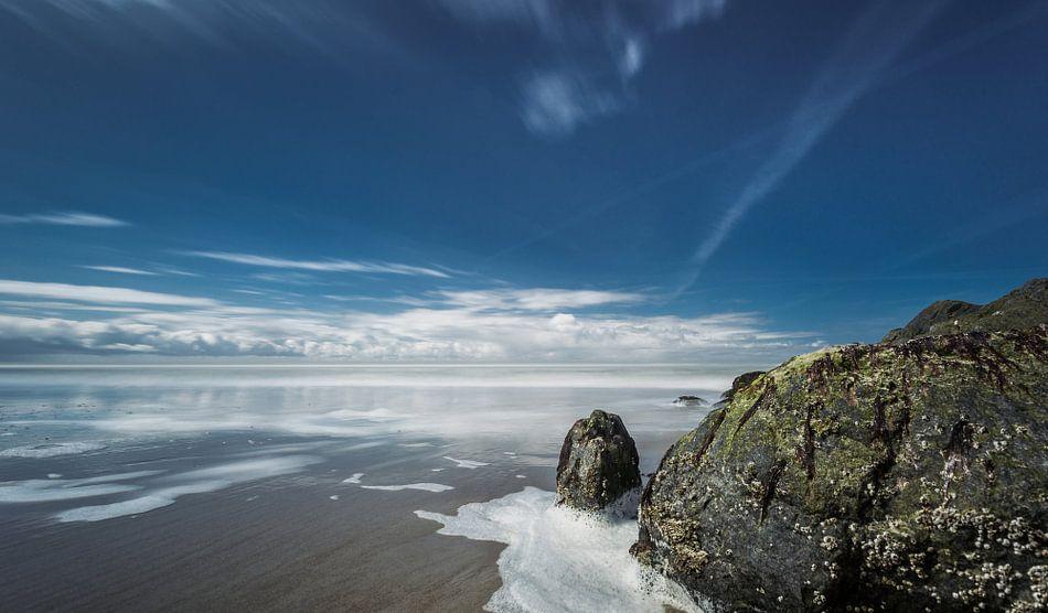 Rots aan de Noordzee kust van Texel