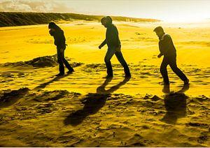 Drie mannen met tegenwind