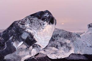 Ice blocks in the evening light