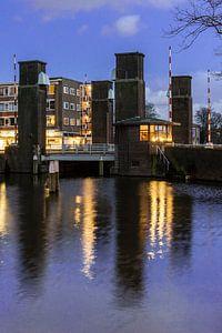 Schiedam, Oranjebrug over de Nieuwe Haven van