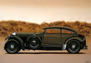 Bentley Blue Train 1930 Schilderij