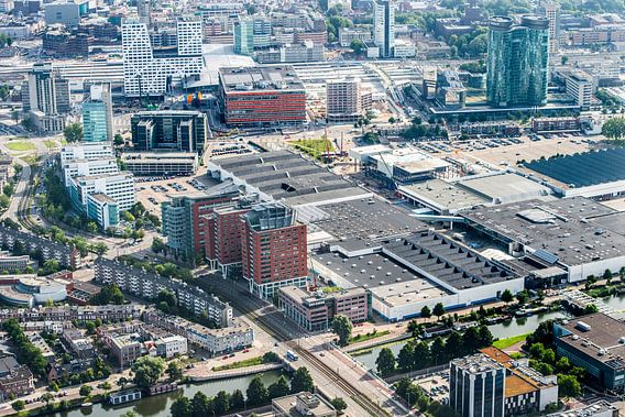 De Jaarbeurszijde van de binnenstad in Utrecht van De Utrechtse Internet Courant (DUIC)