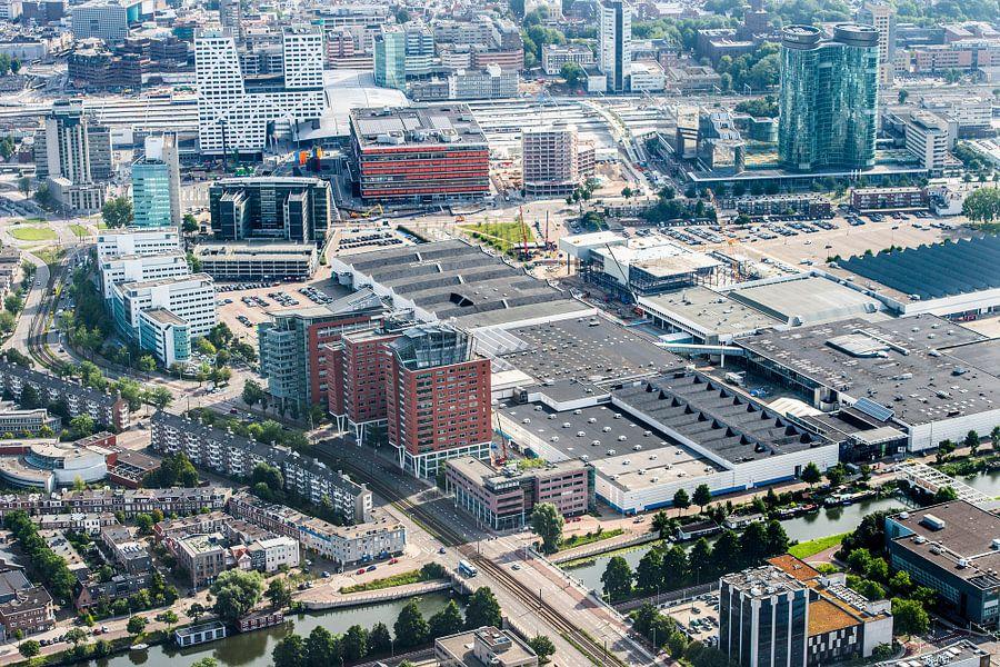 De Jaarbeurszijde van de binnenstad in Utrecht