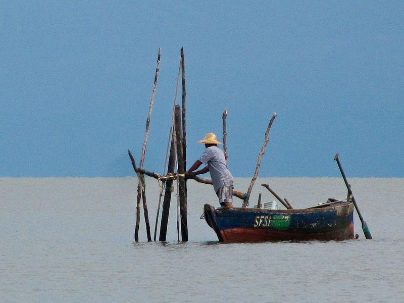 Hard werkende visser van Onne Kierkels