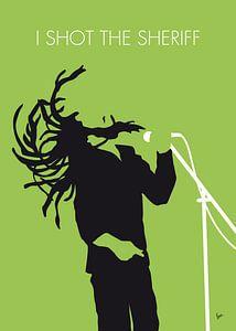 No016 MY Bob Marley Minimal Music poster van Chunkong Art