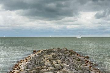 Uitzicht op het IJsselmeer van Mark Bolijn